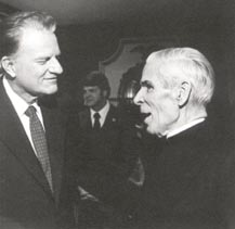 Billy Graham with Sheen at breakfast