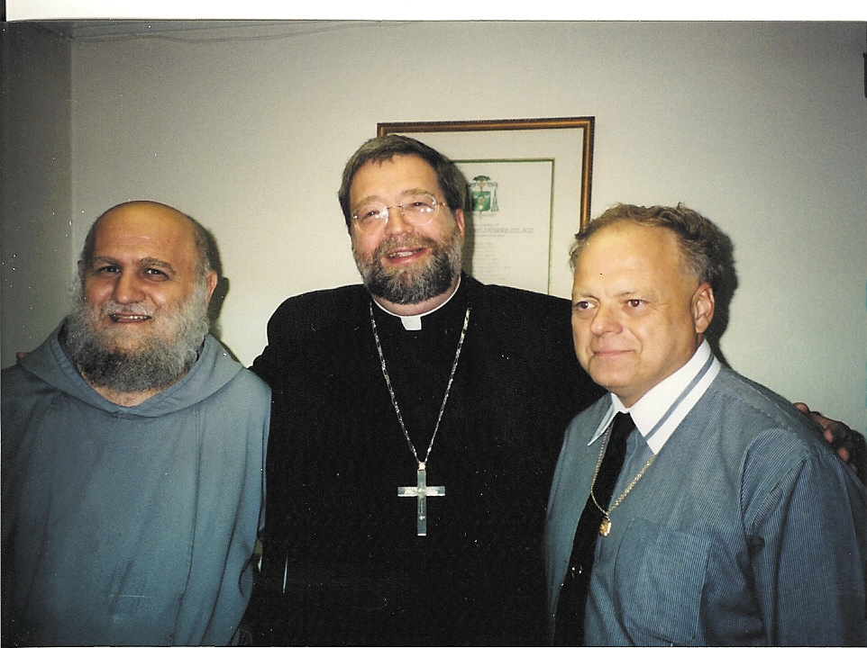 Father Andrew Apostoli, Bishop Jenky and Greg Ladd