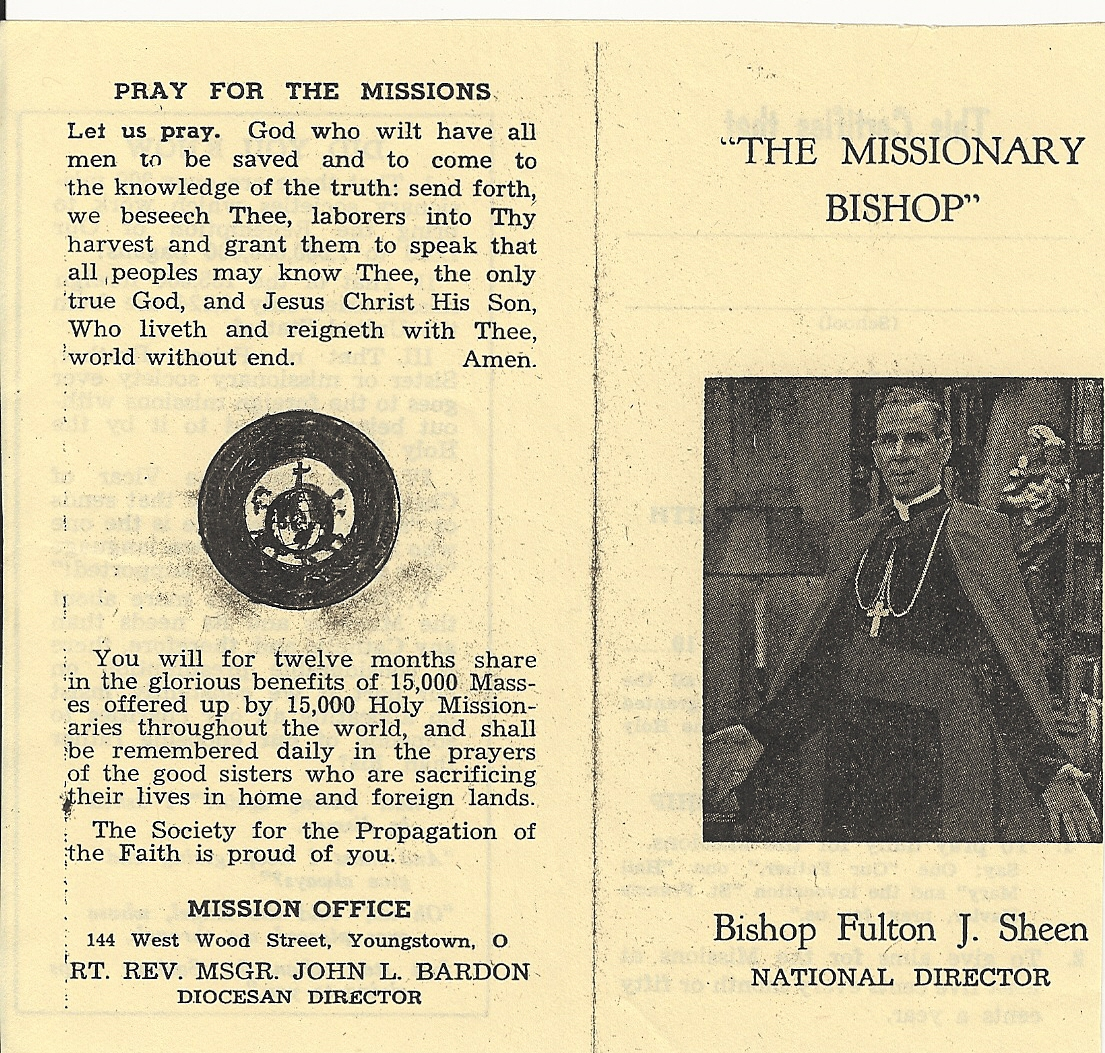Junior Propagation of Faith Membership booklet