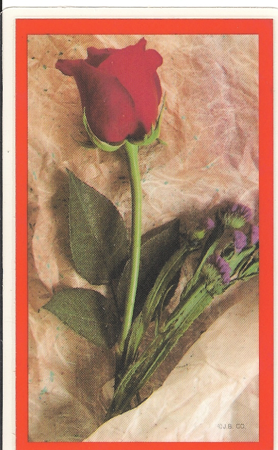 Rose Prayer Card